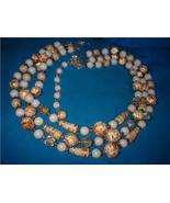 "Vintage Jewelry  ""JAPAN"" Necklace  3 Strand - $20.00"
