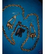 Vintage Jewelry Monet Elephant Necklace Earrings Lot - $15.00