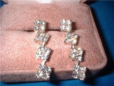 16 Crystal Imitation Diamond Dangle Earrings