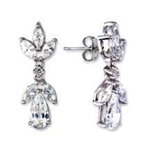 Marquise & Pear Cut Russian CZ Dangle Earrings New