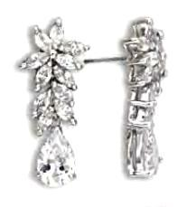 Marquise And Pear Cut Russian CZ Dangle Earrings New