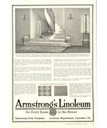 1938 Armstrong's Linoleum flooring interior design print ad - $10.00