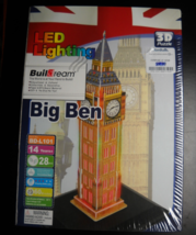 Buildream 3D Jigsaw Puzzle Big Ben London England with LED Lighting Sealed Box - $13.99