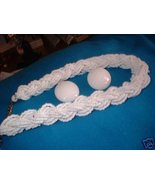 Vintage Jewelry White Glass  Necklace  Earrings Lot - $18.00