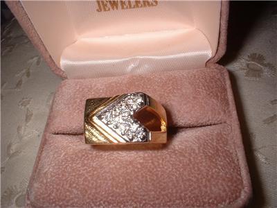 Men's Imitation Diamond CZ Ring Sz 13 NIB