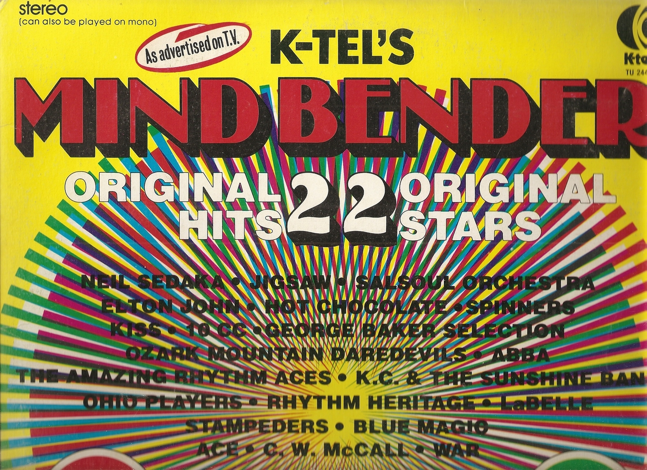 LP--K-Tel's Mind Bender 22 Original Hits