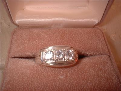 Mens Or Ladies Sterling Silver Russian CZ Ring NIB