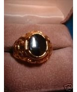 Genuine Onyx Men's Nugget Ring Sz 12 NIB - $25.00