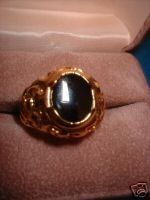 Genuine Onyx Men's Nugget Ring Sz 12 NIB