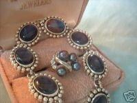 Imitation Abalone Bracelet & Matching Pearl Ring NIB