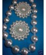 Vintage Jewelry Dusty Blue  Necklace RS Earrings - $13.00