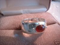 Ladies Genuine Garnet .925 Sterling Silver Ring Sz 8 NIB