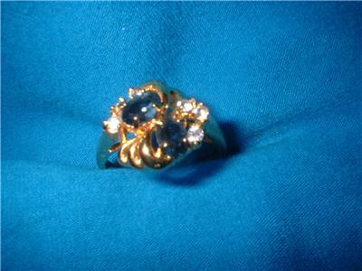 Ladies Austrian Crystal Sapphire Marquise Ring Size 9 NIB