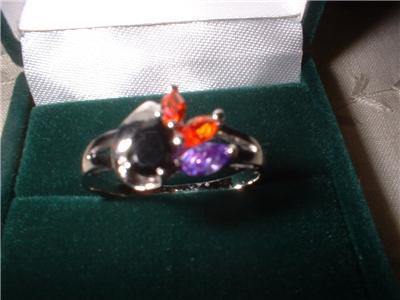 Ladies Austrian Crystal Pear & Marquise Ring Size 8 NIB