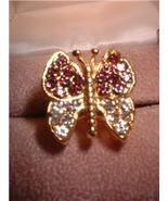 Ladies Austrian Crystal Butterfly Ring NIB - $18.00