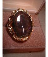 Ladies Huge Imitation Mystic Topaz Ring Size 5 NIB - $20.00