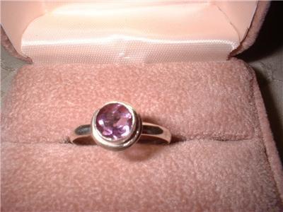Ladies Sterling Silver Amethyst Ring Size 9.5 NIB