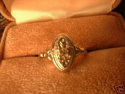 Ladies Avon Antique Style Silver Sz 7 Ring NIB