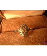 Ladies Avon Antique Style Silver Sz 7 Ring NIB - $12.00