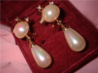 Lovely Lot Imitation Pearl Earrings High End