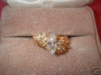 Ladies CZ Marquise Cocktail 13 Stone Ring Sz 7 NIB