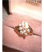 Ladies Sparkling CZ 11 Stone Cluster Ring NIB - $15.00