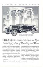 1929 Chrysler 75 5 passenger sport Phaeton print ad - $10.00