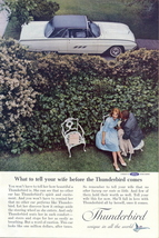 1962 Ford THUNDERBIRD HARDTOP sweet couple print ad - $10.00