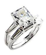 Ladies Wedding Set Large Solitaire CZ Double Band Size 9 NIB - $38.00