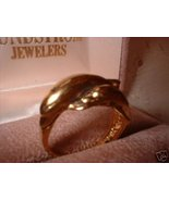 Ladies Porpoise Dolphin Gold Overlay Ring Sz 7.5 NIB - $14.00