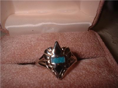 Biker Emblem Turquoise & Black Ring NIB