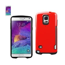 REIKO SAMSUNG GALAXY NOTE 4 CANDY SHIELD CASE WITH CARD HOLDER IN RED - $11.40