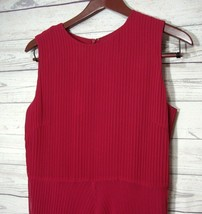 Talbots Silk Shift Dress Sleeveless New $168 size 10 Pink Fuchsia Ruffle... - $21.55