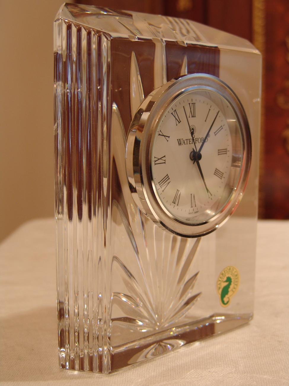 WATERFORD CRYSTAL COLONNADE CLOCK