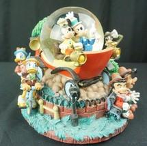 Disney Store Nifty Nineties Mickey Mouse Minnie Snowglobe Music Box - $149.95
