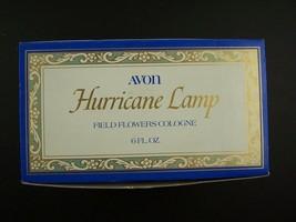 Avon Decanter Hurricane Lamp Field Flowers Cologne 6 Fl Oz Original Box Vintage - $12.46