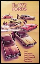1972 Ford HUGE Brochure- Mustang, T-Bird, Grabber - $7.73
