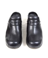 DANSKO Sport Black Faux Leather Mule Clogs Occupational Nursing Shoes 41... - $34.64