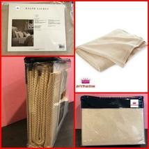 """$330 Ralph Lauren Weston Park Lurex Camel Tan Metallic Bed Throw Blanket 54""""x72"""" - $178.19"""