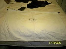 NEW Authentic Balmain  16 x 16 White with Black Logo Dust bag  - $22.76