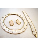 Butler Fifth Avenue collection cream and gold enamel necklace, bracelet ... - $35.00
