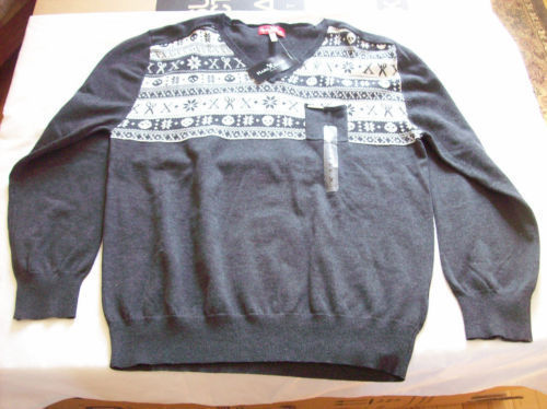 Marc Ecko Cut & Sew Pullover V-Neck Sweater XL NWT