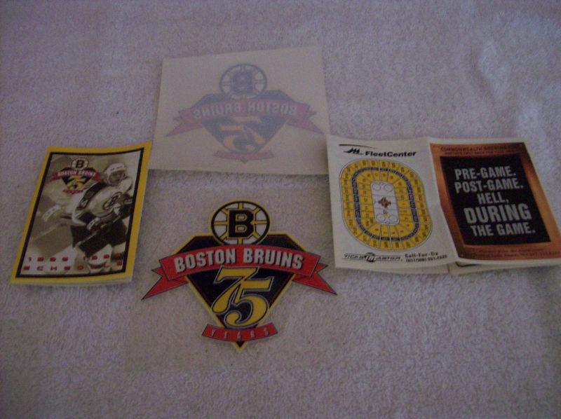 Boston Bruins Lot 75th DECAL & SCHEDULE 1998-1999 Mint