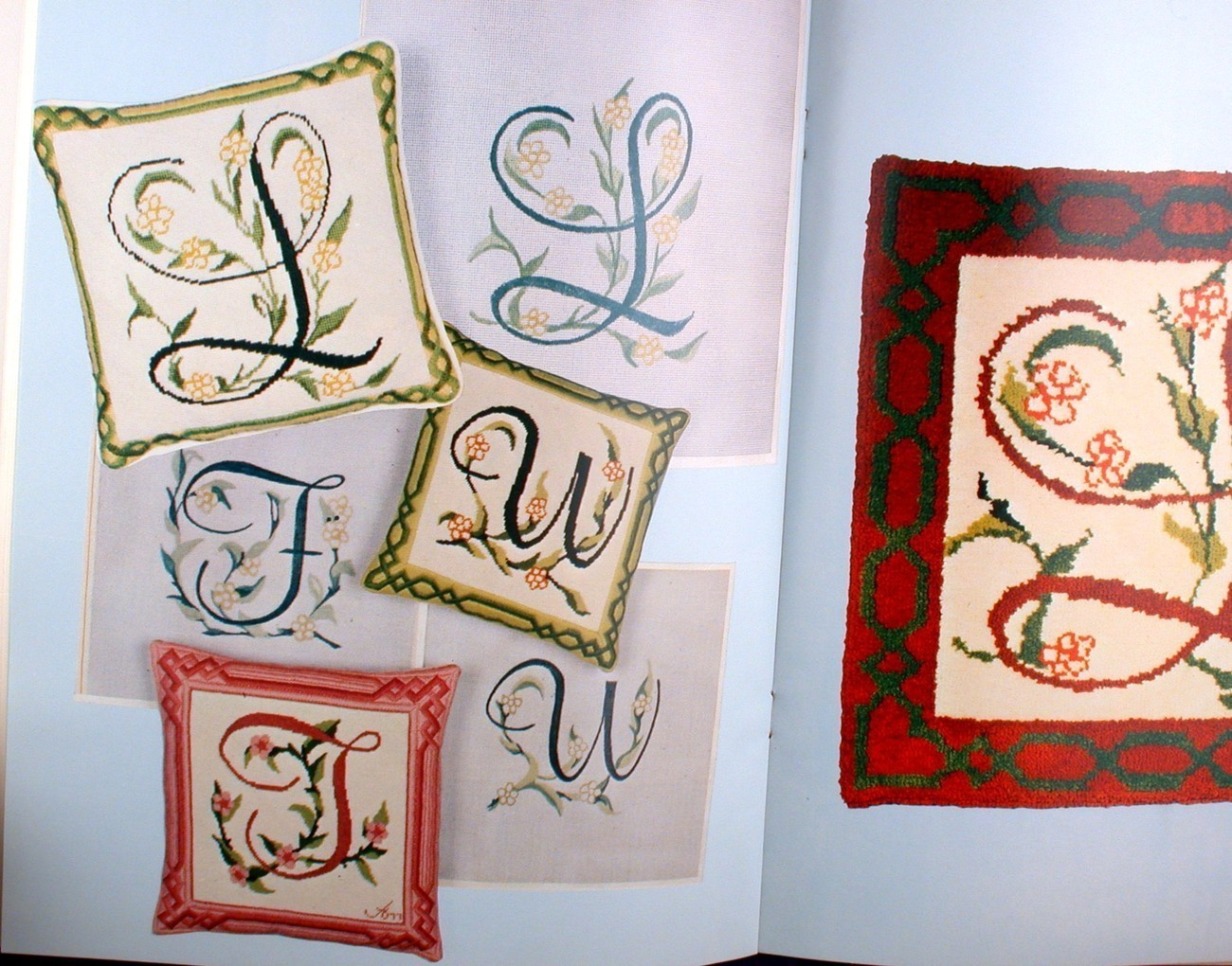 Initally Yours Alphabet Monograms Cross Stitch Patterns Letters Bargello Borders