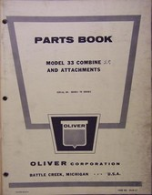Oliver 33 Self-Propelled Combine Parts Manual - Original - s/n 300001-30... - $32.00