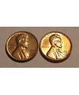 1956 - D & 1957 - D  Copper Lincoln Wheat Cents  - $1.35 CAD