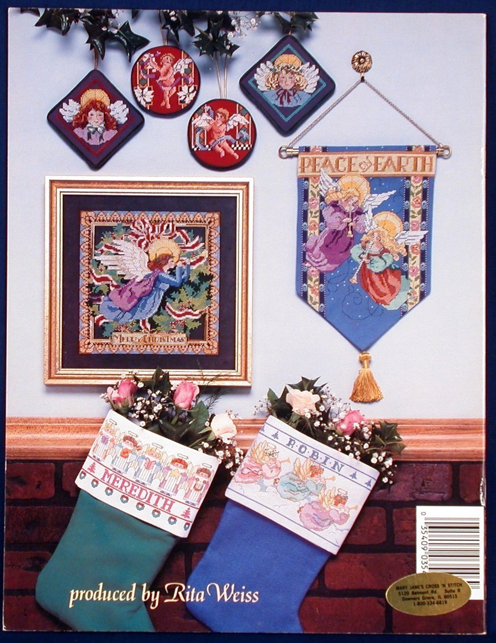 Cross Stitch Angels Nancy Rossi Needlework Patterns 9 Designs 3546