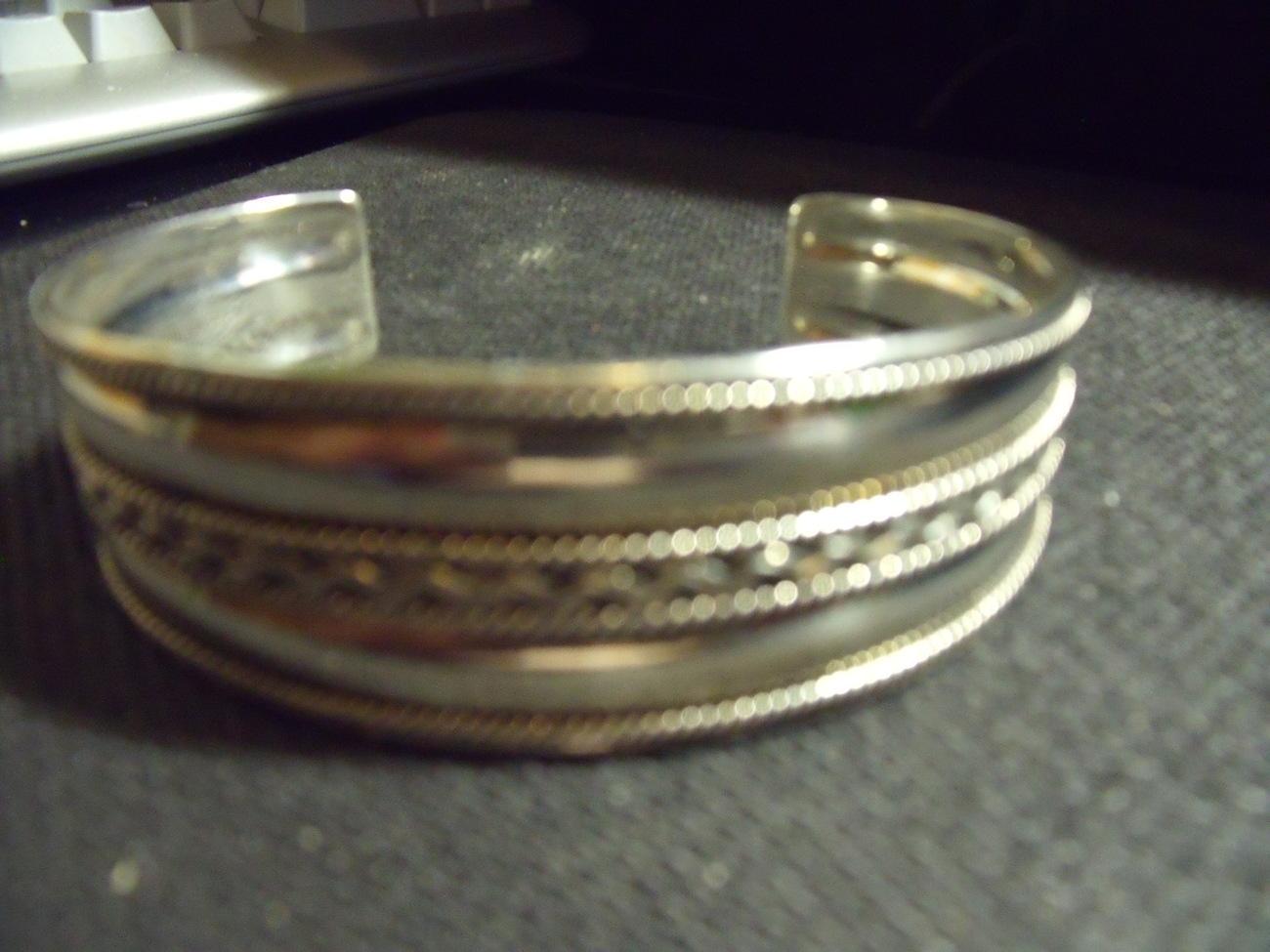 Sterling Silver Fancy Cuff bracelet