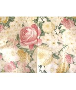 Wilmington Innocent Indulgence Tones of Yellow & Pink Roses Yellow Cotto... - $9.95