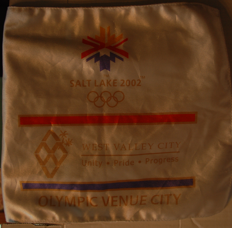 Salt Lake City 2002 Olympics Flag West Valley City